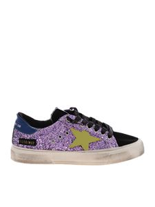 Golden Goose Deluxe Brand - May sneakers with purple glittered leather