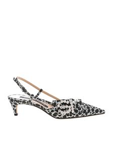 Sergio Rossi - Amimal printed slingbacks in black and silver