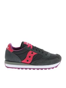 Saucony - Jazz Original sneakers in gray and fuchsia