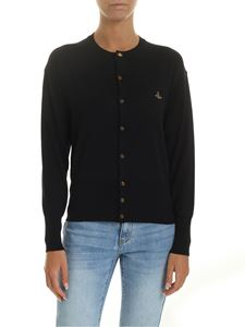 Vivienne Westwood  - Black cardigan with Orb logo