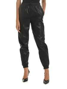 Michael Kors - Eco-leather trousers in black