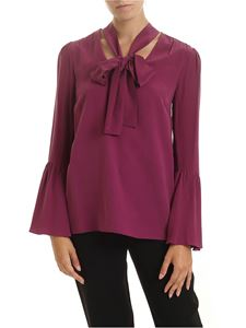 Michael Kors - Purple blouse with bow on the neckline