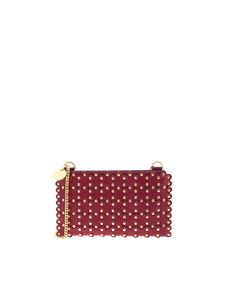 Red Valentino - Flower Puzzle clutch bag in burgundy