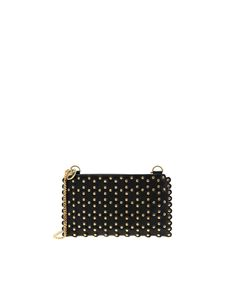 Red Valentino - Flower Puzzle Clutch Bag in black