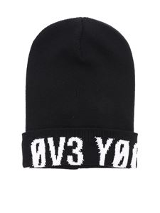 Red Valentino - Love You beanie in black