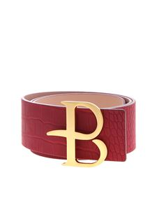 Ballantyne - Reversible belt in red and pink