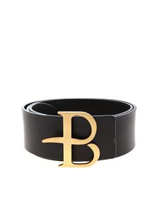 Ballantyne - Logo buckle belt in black