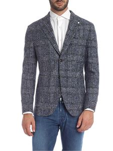 L.B.M. 1911 - Blue jacket with white and brown tartan pattern