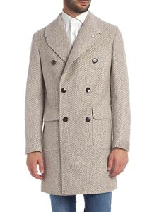 L.B.M. 1911 - Beige coat with herringbone pattern