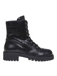 Giuseppe Zanotti - Thora boots in black python-effect leather