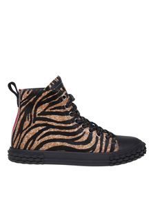 Giuseppe Zanotti - Blabber sneakers in tiger printed calf hair