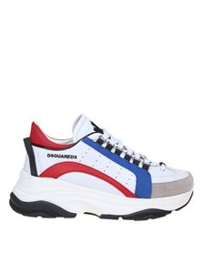 Dsquared2 - Sneakers Bumpy 551 in pelle bianca