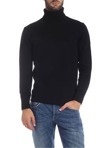 Kangra Cashmere - Black merino wool turtleneck