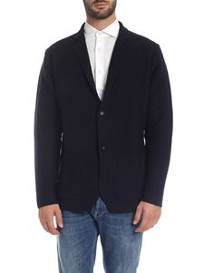 Kangra Cashmere - Jacket in blue knitted fabric
