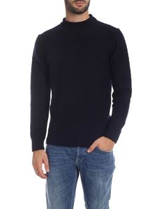 Kangra Cashmere - Pullover in blue knitted fabric