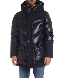 Woolrich - Logo Artic Parka down jacket in blue