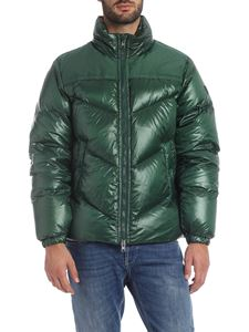 Woolrich - Green Artic Logo down jacket with polish effect