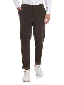 Dondup - Army green Ivor trousers in corduroy