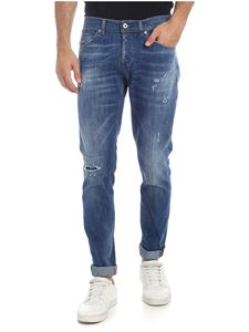 Dondup - George jeans with destroyed effect in blue