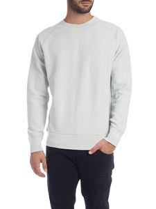 Dondup - Sweatshirt with brand embroidery in ice gray color