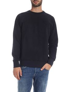 Dondup - Blue fleece sweatshirt with logo embroidery