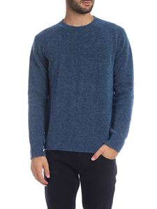 Dondup - Light blue pullover in knitted fabric
