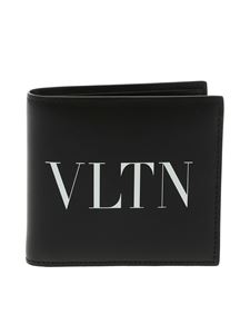 Valentino - Leather wallet with VLTN logo