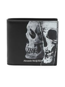 Alexander McQueen - Torn Skull wallet in black