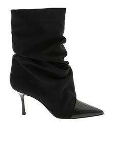 Marc Ellis - Black satin ankle boots