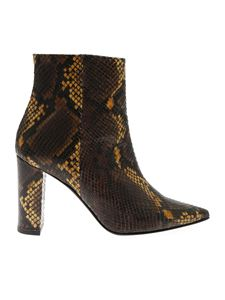 Marc Ellis - Brown reptile effect ankle boots