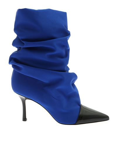 a085b083b40a2 Marc Ellis Fall Winter 19/20 blue and black satin ankle boots - MA82 ...