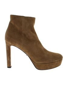 Prada - Ankle boots in beige suede leather