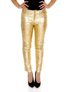 Golden Goose Deluxe Brand - Jolly trousers in gold color