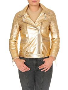 Golden Goose Deluxe Brand - Yasu leather jacket in golden color