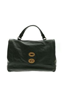 Zanellato - Postina M bag in dark green Lustro line