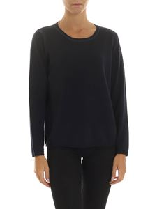 Kangra Cashmere - Blue pullover with sequins