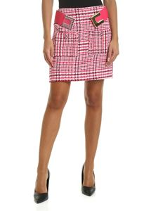 Elisabetta Franchi - Prince of Wales Check skirt with decorative belt
