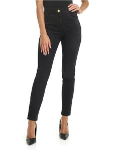 Elisabetta Franchi - Black jeans with branded profiles