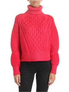 Elisabetta Franchi - Pink neon turtleneck in knitted fabric