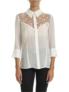 Elisabetta Franchi - Ivory shirt with star embroidery