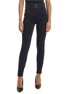 Elisabetta Franchi - Blue trousers with front logo
