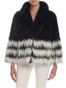 Twin-Set - Black and white eco-fur