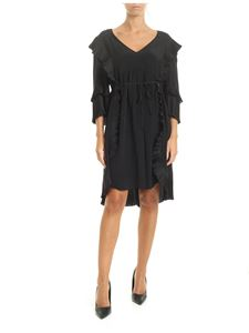 Twin-Set - Black dress with pleated details