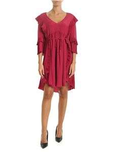 Twin-Set - Magenta dress with pleated details
