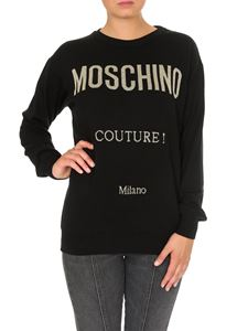Moschino - Black pullover with Moschino Couture logo