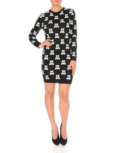 Moschino - Teddy Bear embroidered dress in black cotton
