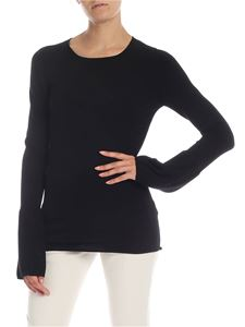 Dondup - Black pullover with puff sleeves