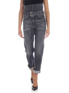 Dondup - Aya jeans high-waisted in gray
