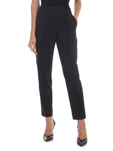 Calvin Klein - Black cigarette trousers with logo embroidery