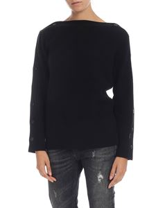 Calvin Klein - Black pullover with buttons